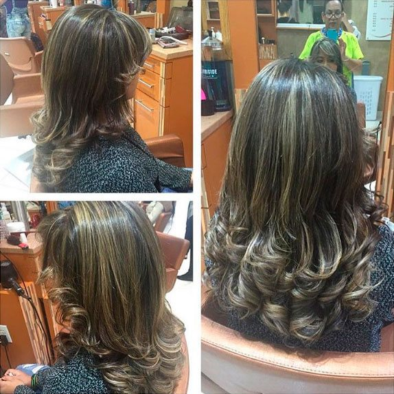 Highlights there are four basic types of highlights foil highlights hair painting frosting and chunking rizos spa offers a big experience for your hair pmusecretfo Images